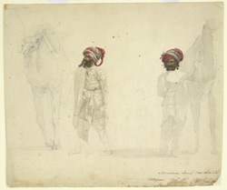 Two Marwari camel merchants, Kathiawar (Sind).  November 1813